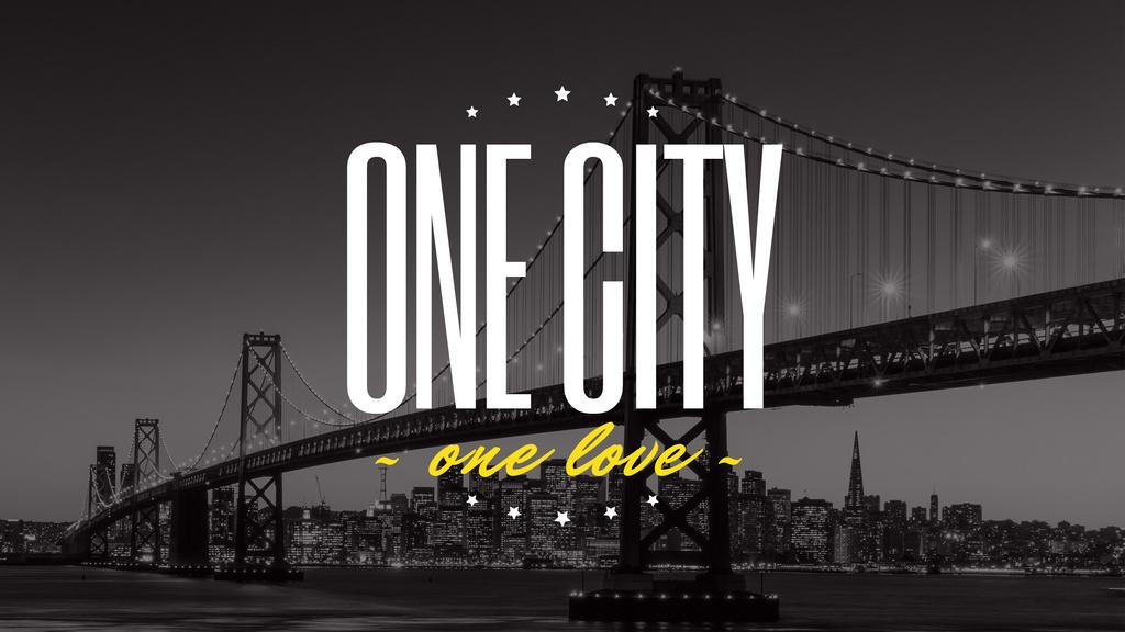 New York Night City View | Youtube Channel Art — Créer un visuel