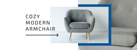 Ontwerpsjabloon van Facebook cover van Cozy Modern Armchair Offer