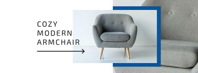 Plantilla de diseño de Cozy Modern Armchair Offer Facebook cover