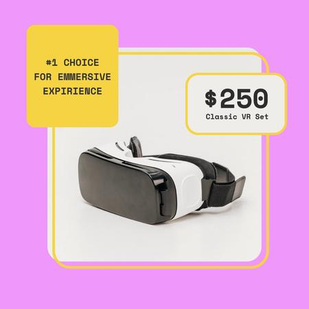 Plantilla de diseño de VR glasses Offer in Pink Frame Instagram