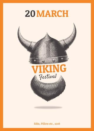 Plantilla de diseño de Viking festival announcement Invitation