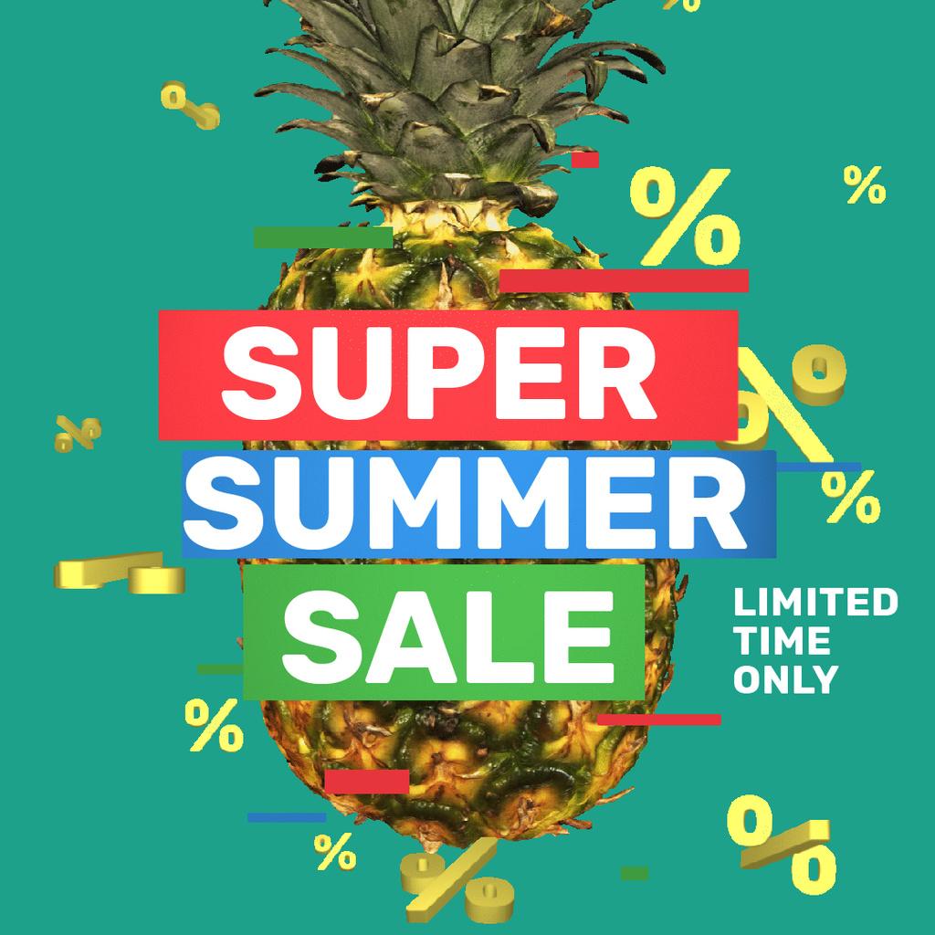 Special Sale with Rotating raw Pineapple — Создать дизайн