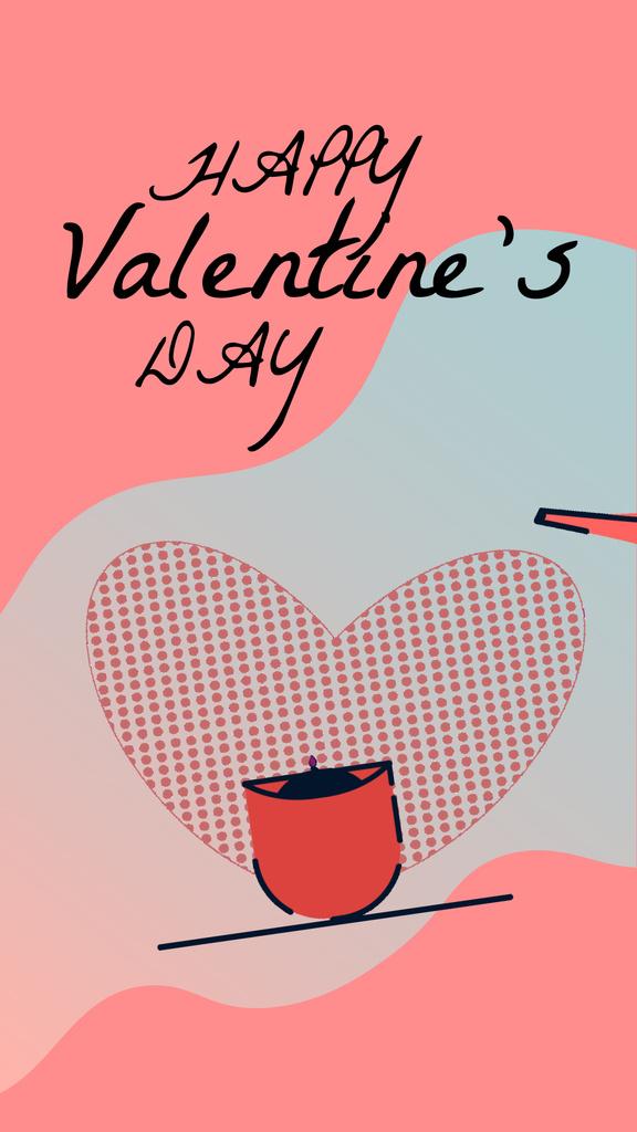 Valentine's Day Greeting Planting Love Flower | Vertical Video Template — Maak een ontwerp