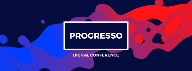 Progresso Digital Conference Facebook Video cover – шаблон для дизайну