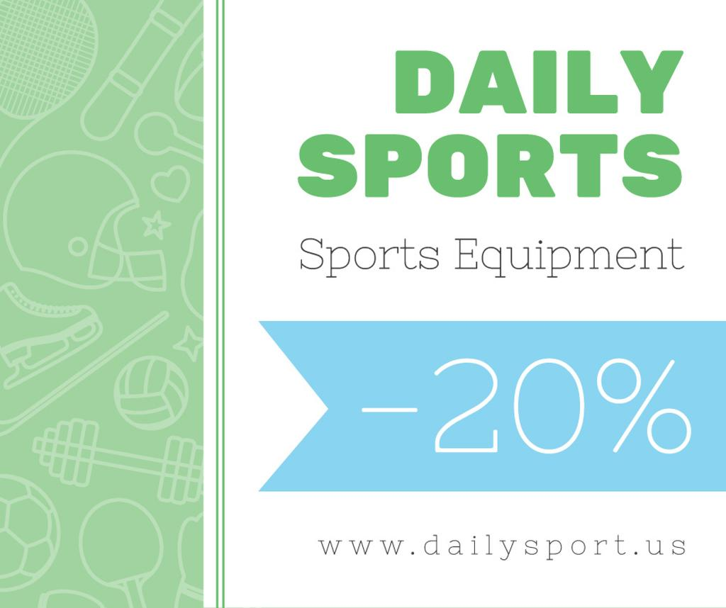 Sports equipment sale advertisement — Crear un diseño