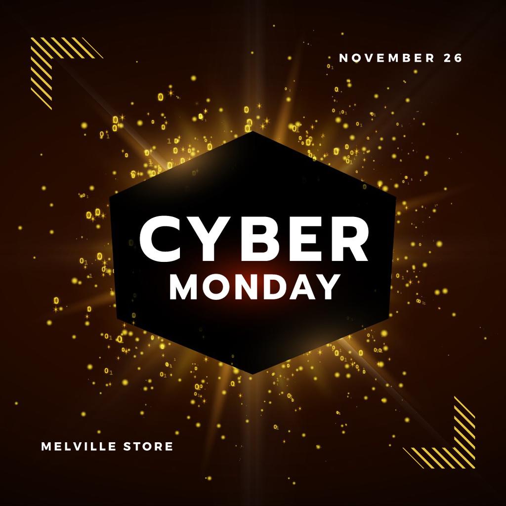 Cyber Monday with Burst of yellow light — Crear un diseño