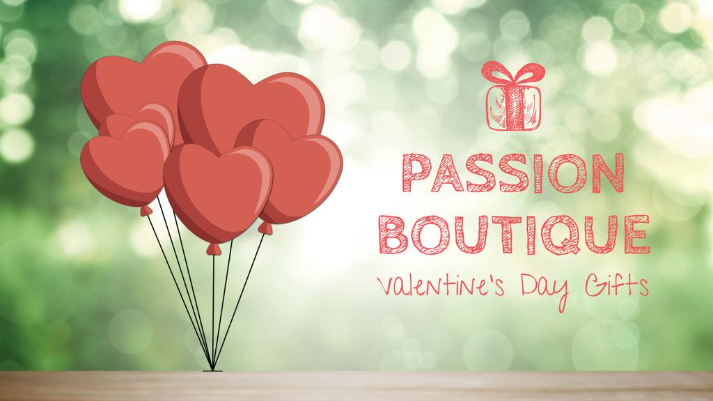 Valentine's Day heart-shaped Balloons — Maak een ontwerp