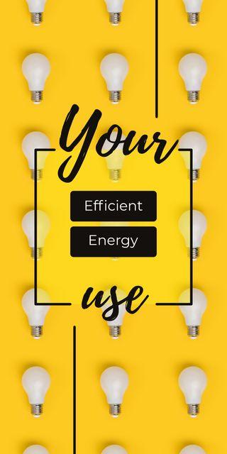 Plantilla de diseño de Light bulbs in rows Graphic