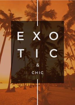 Exotic Tropical Resort Palms in Orange | Flyer Template