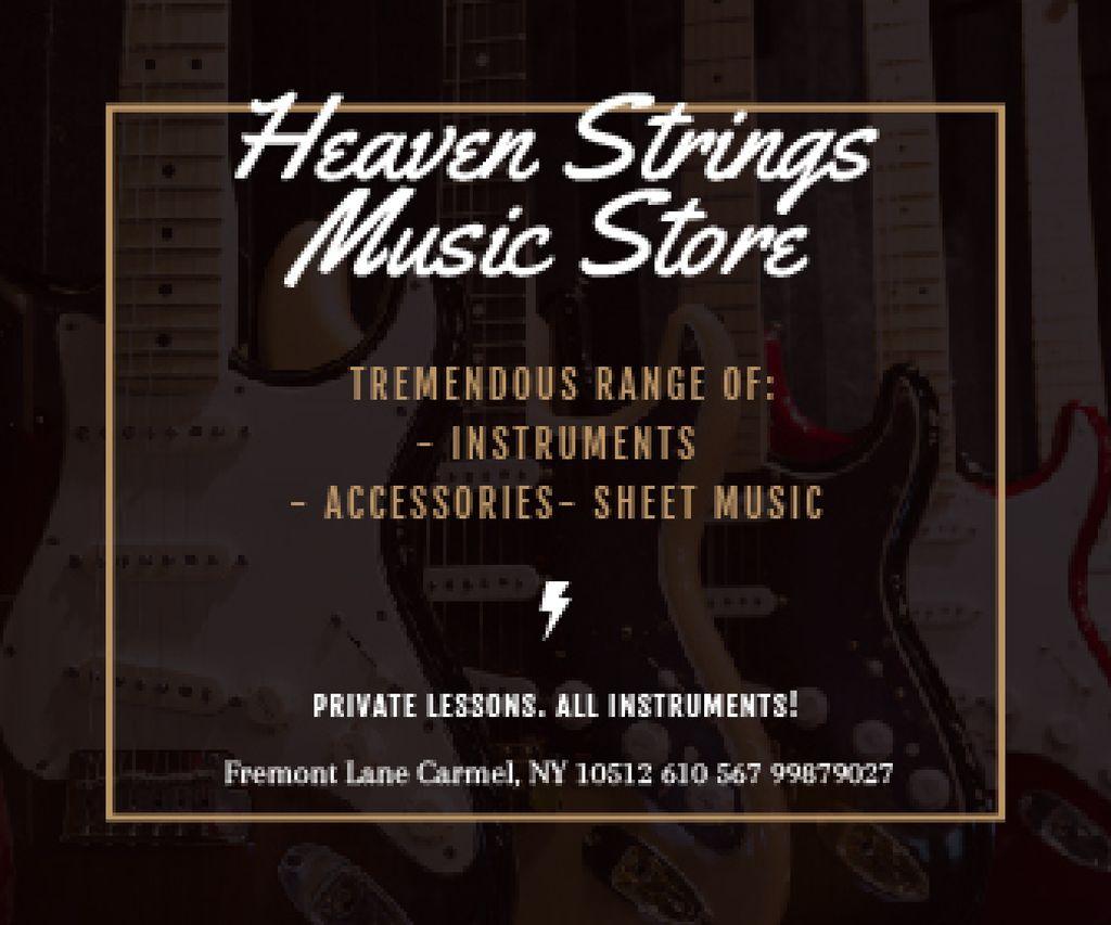 Heaven Strings Music Store — Crear un diseño