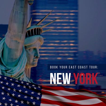 Ontwerpsjabloon van Animated Post van New York Tour Offer with Liberty Statue