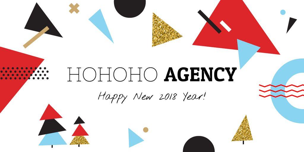 Happy New Year greeting card — Створити дизайн