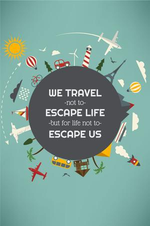 Plantilla de diseño de Travel motivational  slogan Pinterest