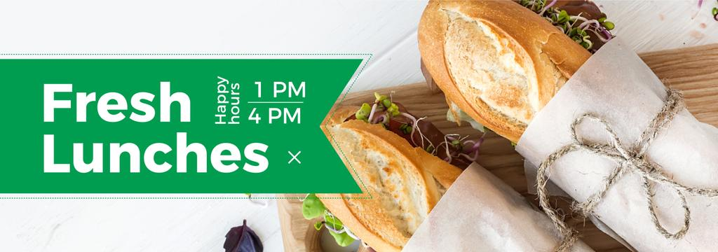 Lunch Recipe Fresh Sandwiches — Modelo de projeto