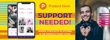 Product Hunt Campaign Man Wearing Headphones