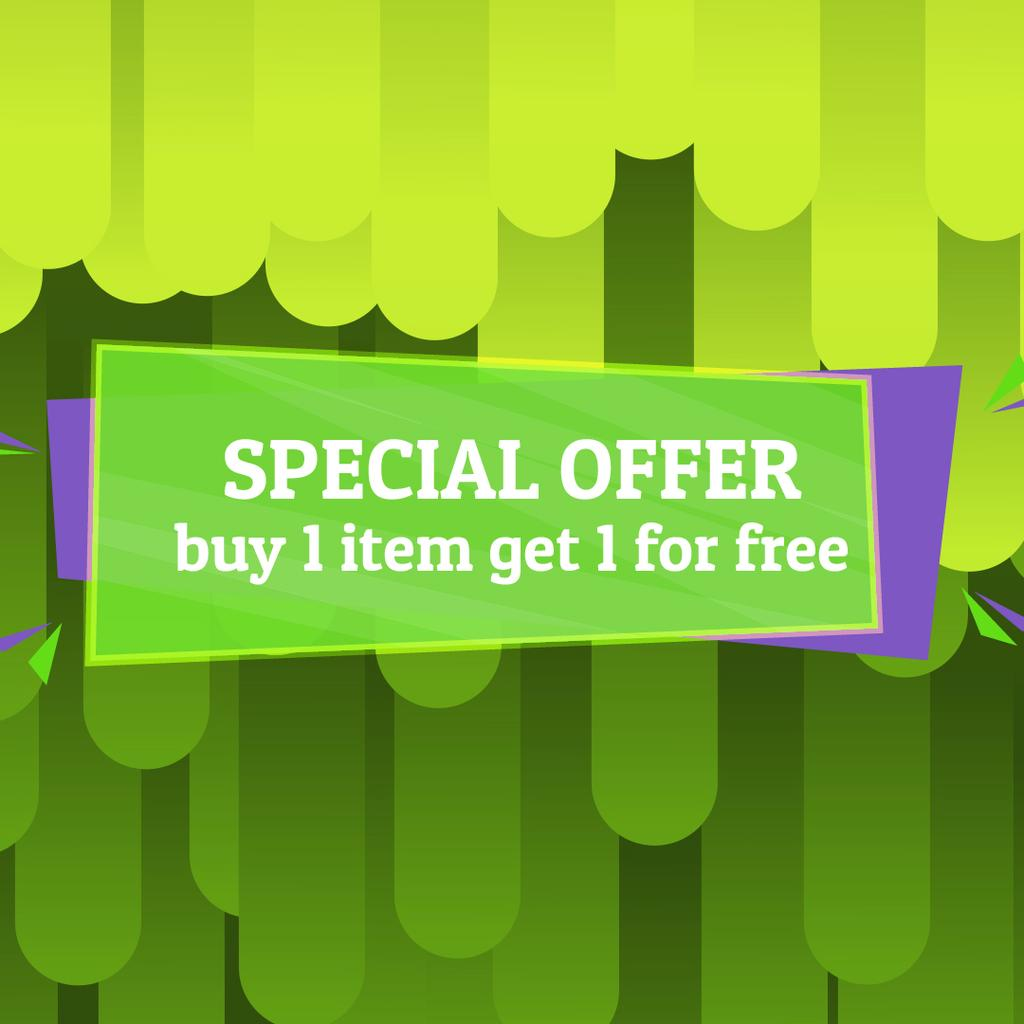 Special Offer Ad with Green moving lines — Создать дизайн