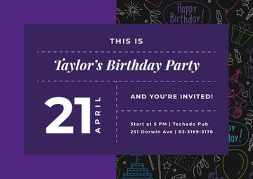 Birthday Party celebration Announcement