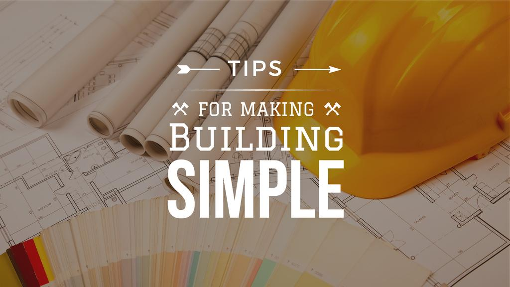 tips for making building simple poster with blueprints — Create a Design