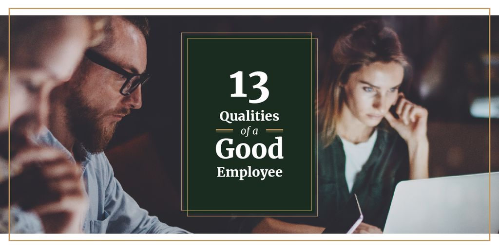 Modèle de visuel 13 qualities of a good employee - Image