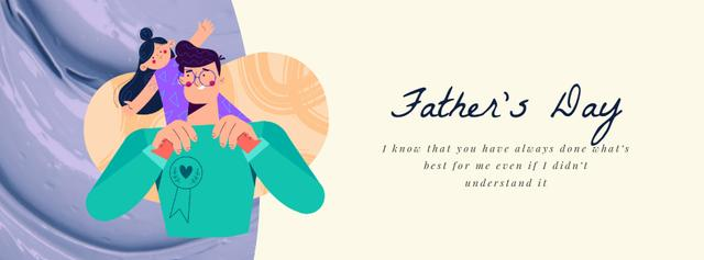 Ontwerpsjabloon van Facebook Video cover van Dad Playing with Daughter on Father's Day