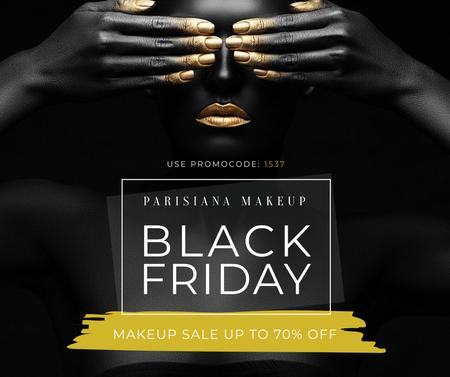 Makeup store Black Friday sale Facebook Modelo de Design