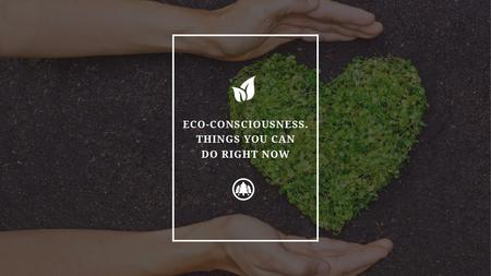 Plantilla de diseño de Eco Quote on Heart of Leaves Title
