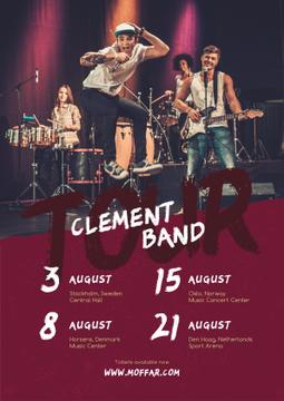 Tour Invitation Band Playing on Stage | Poster Template