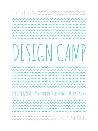 Template di design Design camp announcement on Blue waves Poster US