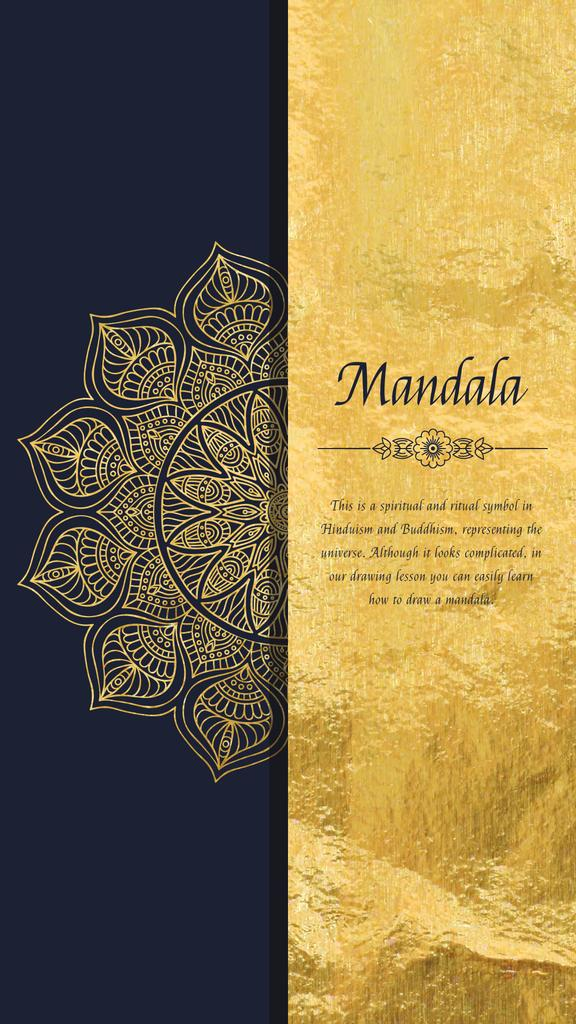 Golden Ornate Mandala | Vertical Video Template — Maak een ontwerp