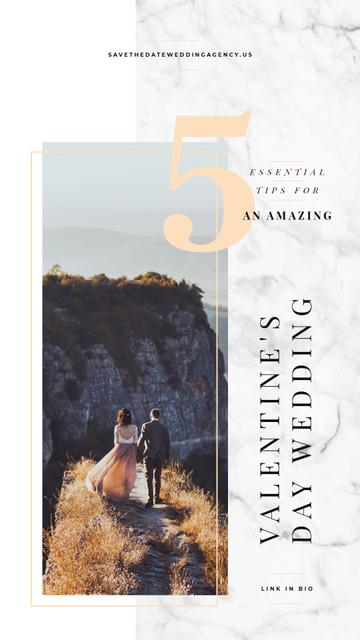 Template di design Newlyweds enjoying view on Valentines Day Instagram Story