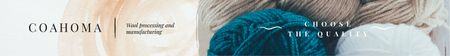 Plantilla de diseño de Wool Yarn Skeins in Pastel Colors Leaderboard