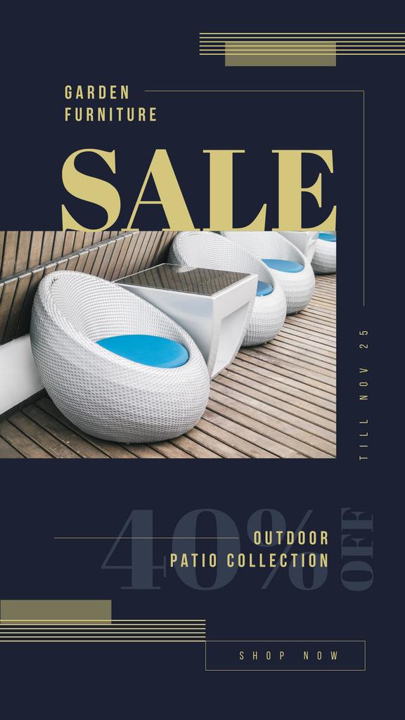 Cozy chairs in patio — Maak een ontwerp