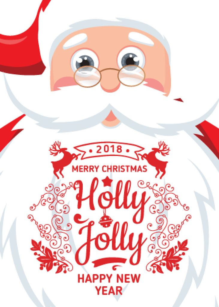 Holly Jolly Greeting with Santa Claus — Créer un visuel