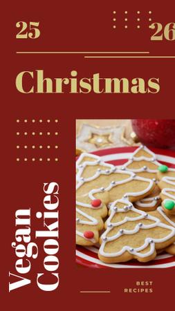 Christmas ginger cookies Instagram Story Modelo de Design