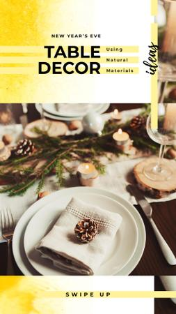 Plantilla de diseño de Festive formal dinner table setting Instagram Story