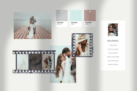 Template di design Romantic Newlyweds by the coast Mood Board