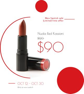 Cosmetics Sale with Red Lipstick