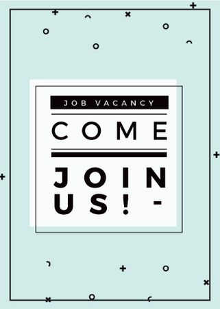 Ontwerpsjabloon van Flayer van Job Vacancy Announcement in Blue