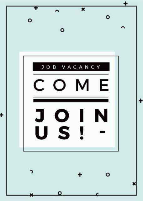 Template di design Job Vacancy Announcement in Blue Flayer