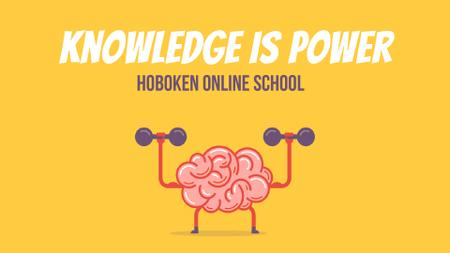 Szablon projektu Education Power Brain Training with Dumbbells Full HD video