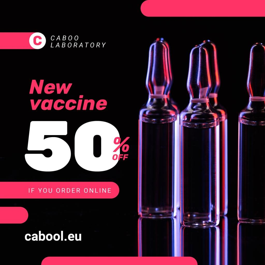 Vaccine Offer Medication In Glass Ampoules — Створити дизайн
