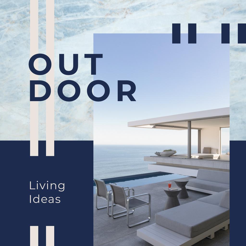 House at sea coastline — Create a Design