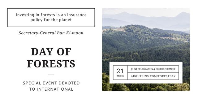 International Day of Forests Event Scenic Mountains Image Design Template