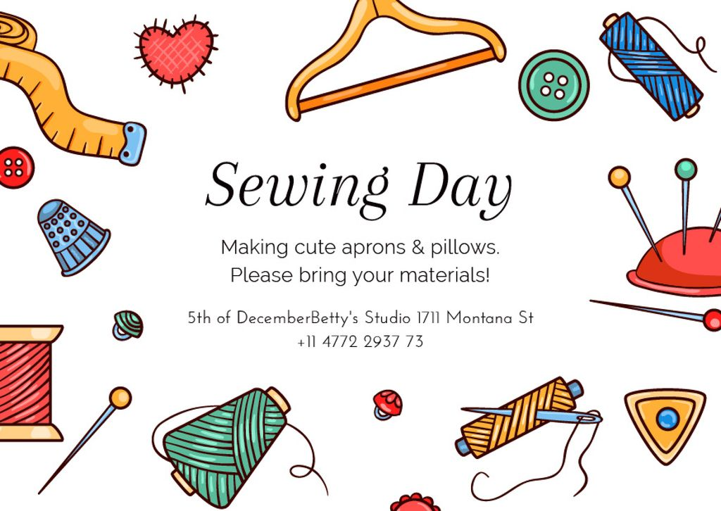 Sewing day event  — ein Design erstellen