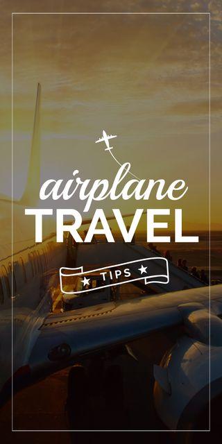 Airplane travel tips banner Graphic Tasarım Şablonu