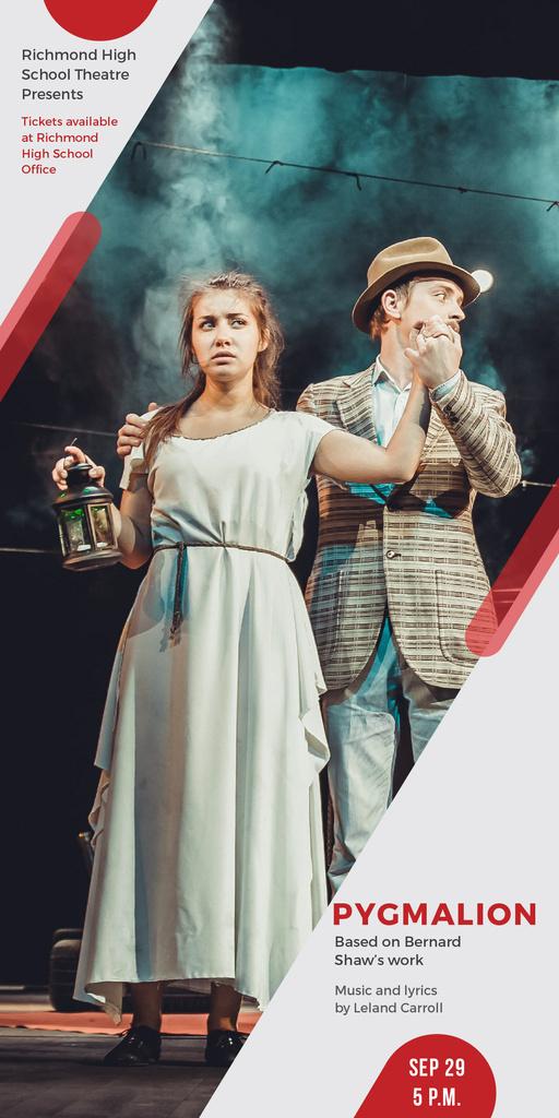 Theater Invitation Actors in Pygmalion Performance — Modelo de projeto