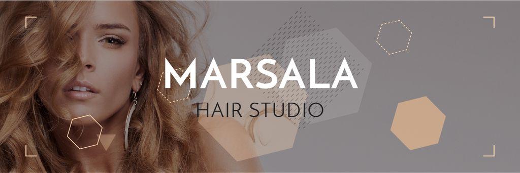 Marsala hair studio banner — Create a Design