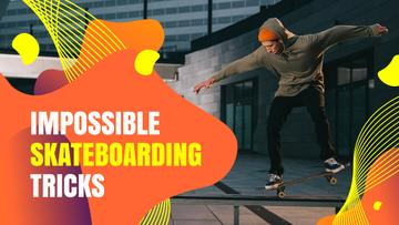 Young Man Riding Skateboard | Youtube Thumbnail Template