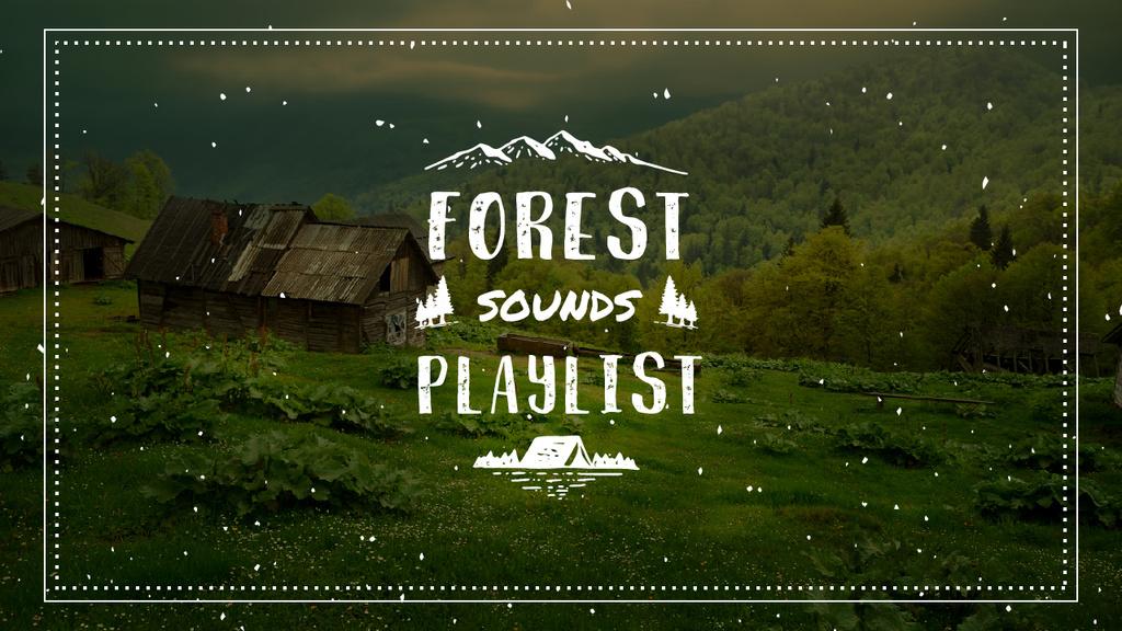 Nature Sounds Ad  Scenic Mountain View — Créer un visuel