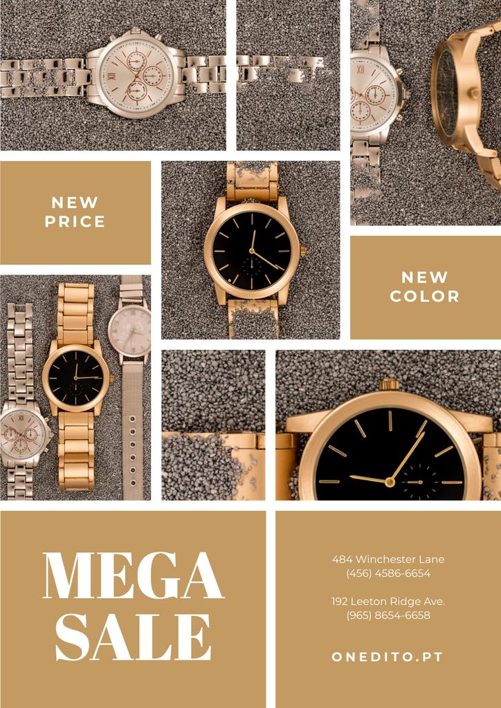 Luxury Accessories Sale with Golden Watch — Crea un design